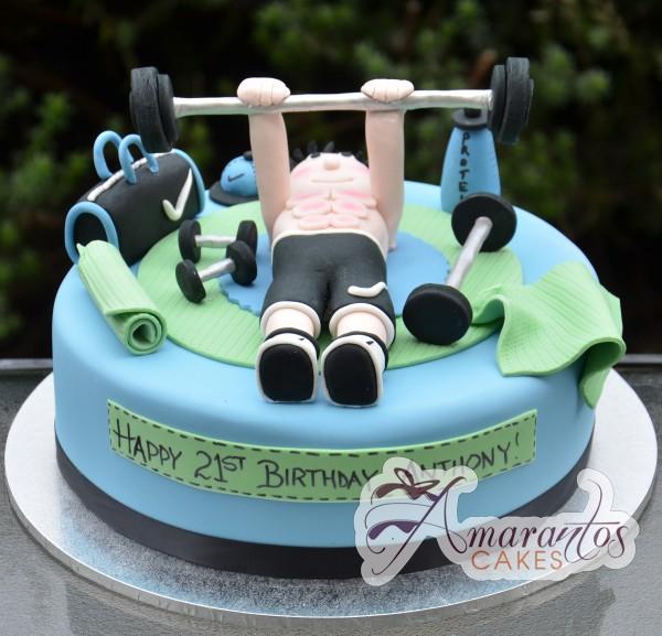 Gym Theme Cake Nc312 Amarantos Cakes