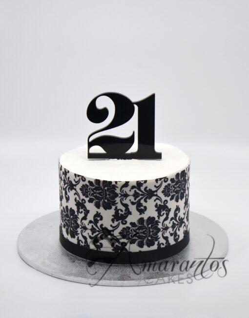 Small 21st Cake - AA03 - Amarantos Cakes