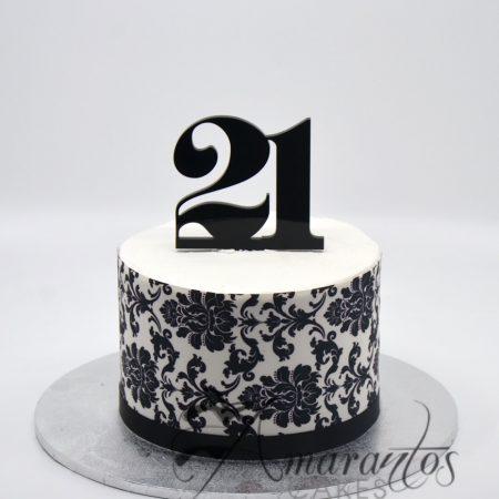 21st Birthday cake – AA03
