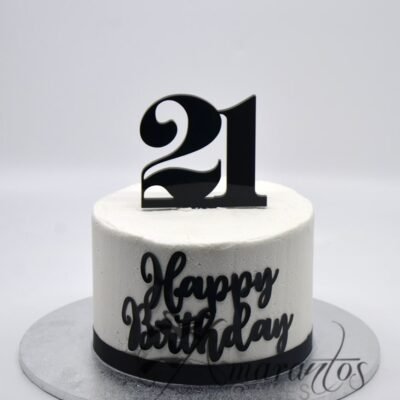 SMALL TWENTY FIRST BIRTHDAY CAKE MELBOURNE