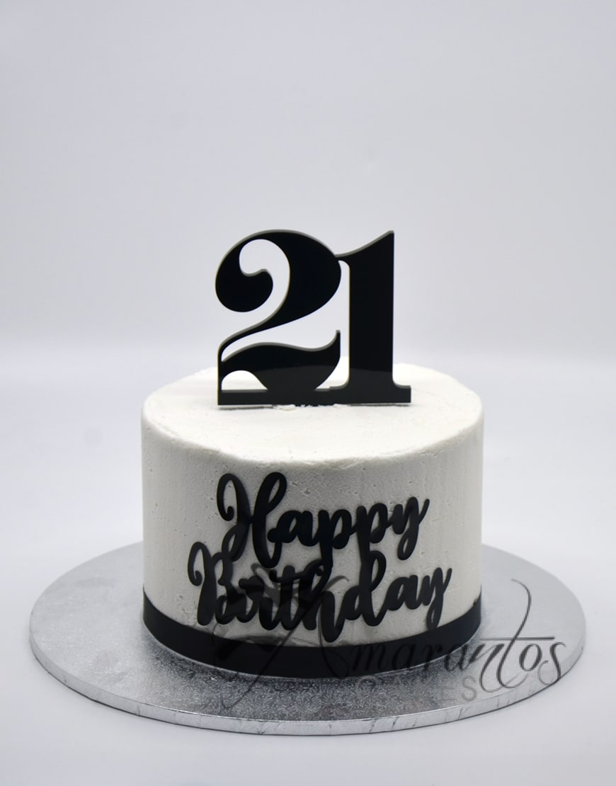 SMALL TWENTY FIRST BIRTHDAY CAKE MELBOURNE