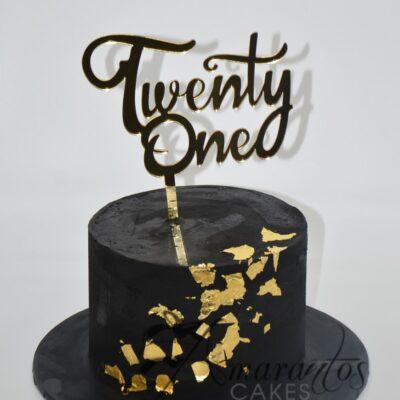 Small 21st Birthday Cake Melbourne - Amarantos Cakes