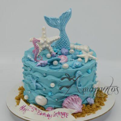 Mermaid Birthday Cake - AA12 - Amarantos Cakes