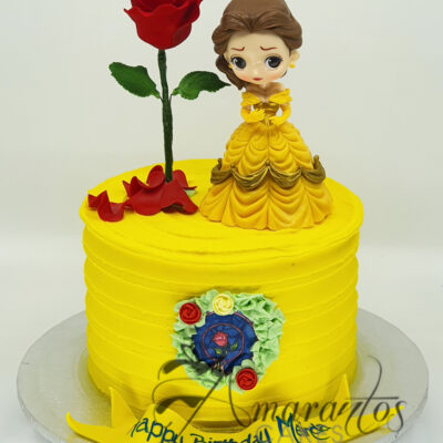 Small Beauty and The Beast Cake - Amarantos Cakes