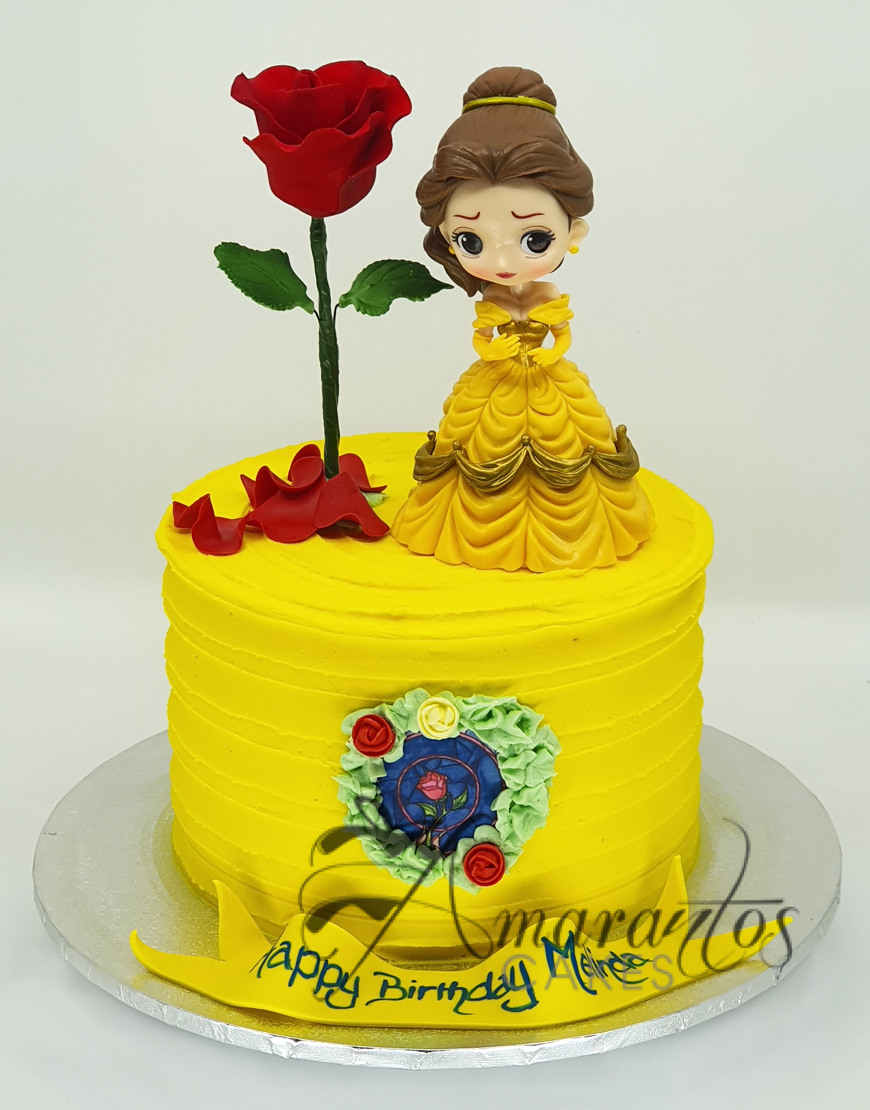 Small Beauty and The Beast Cake - Amarantos Cakes