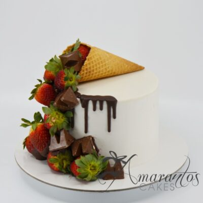 Ice Cream Cone Cake - AA20 - Amarantos Cakes