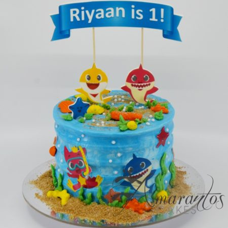 Baby Shark themed cake – AA21