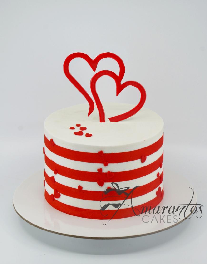 Valentines Day Cake - AA33 - Amarantos Cakes