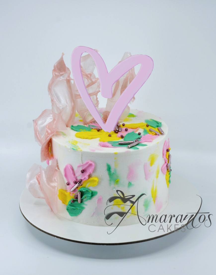Heart Cake - AA34 - Amarantos Cakes