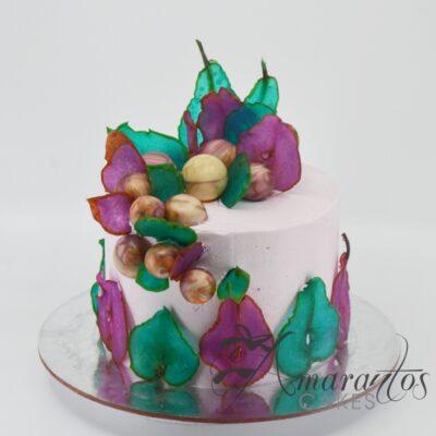 Candied Pear Birthday Cake - AA37 - Amarantos Cakes