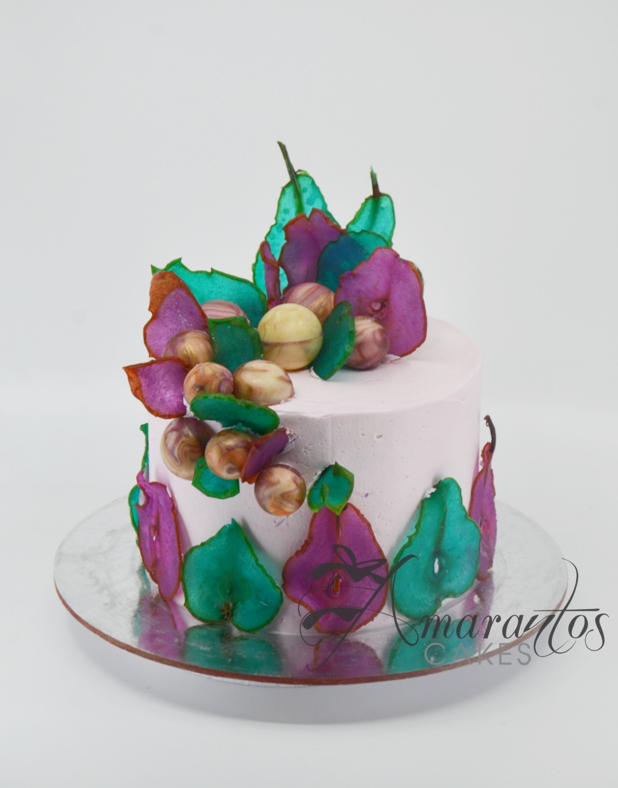 Candied Pear Birthday Cake - AA37 - Amarantos Cakes