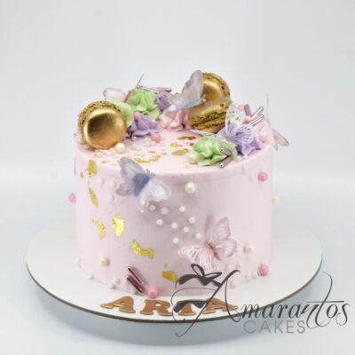 Small Pink Birthday Cake - AA39 - Amarantos Cakes