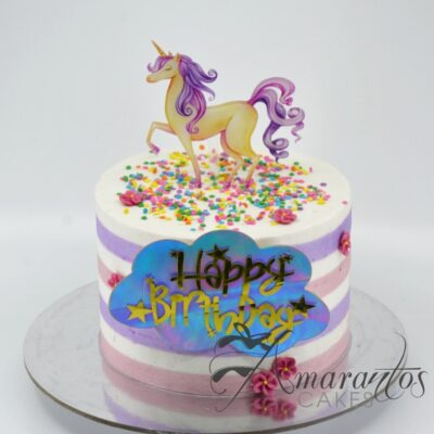 Unicorn Topper Cake - AA40 - Amarantos Cakes
