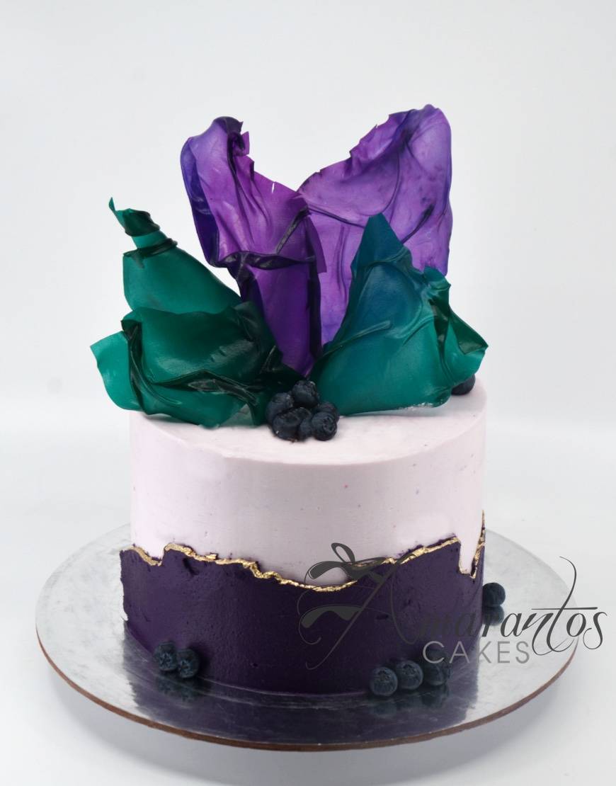 Small Colourful Birthday Cake - AA41 - Amarantos Cakes