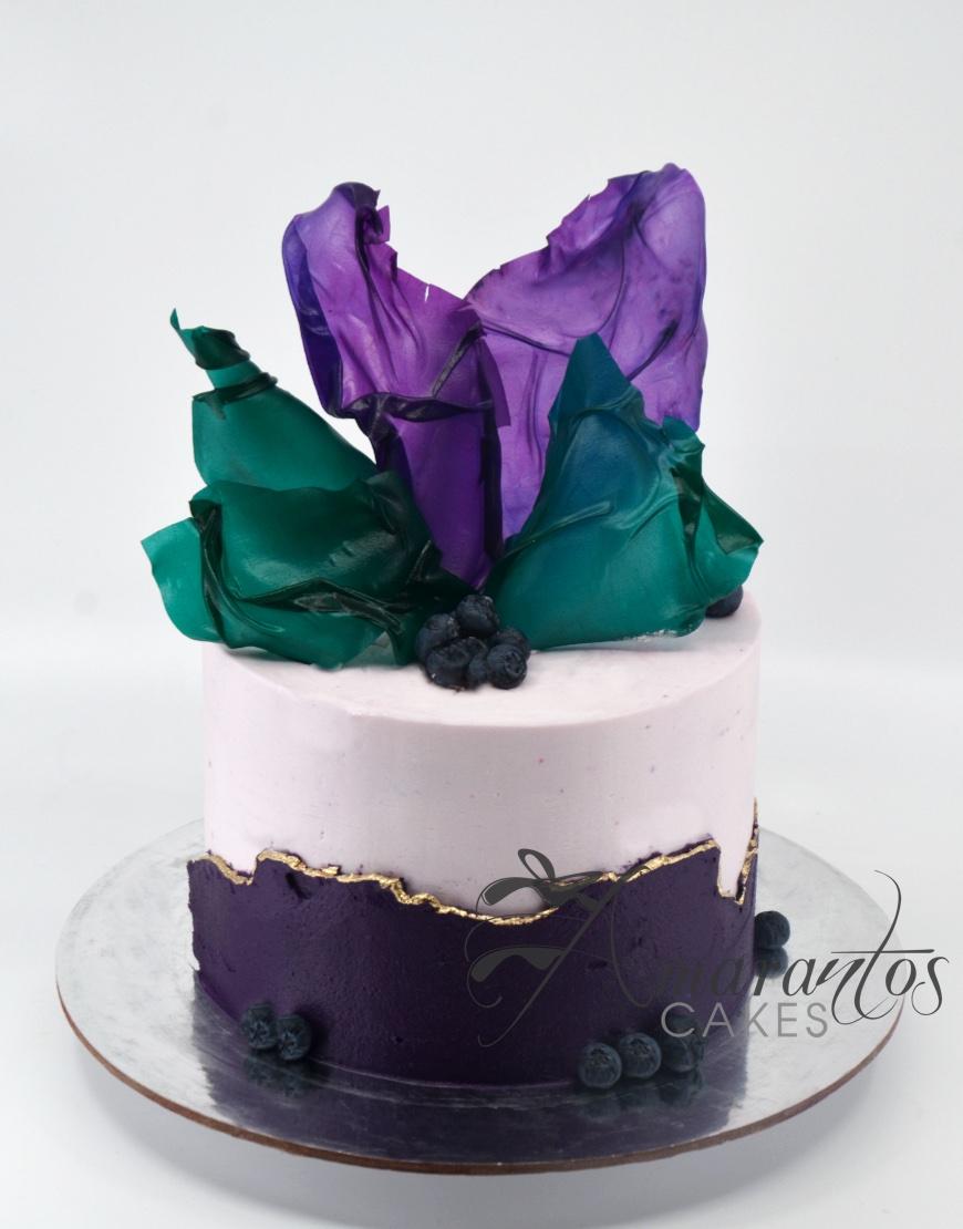Small Colourful Birthday Cake - AA41 - Amarantos Cakes