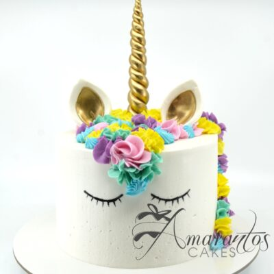 Classic Unicorn Cake - AA42 - Amarantos Cakes