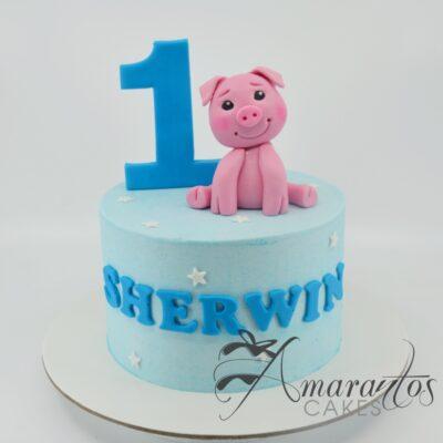 Small Piglet Cake - Amarantos Cakes - AA43