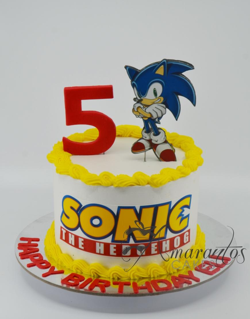 Small Sonic Cake - Amarantos Cakes - AA44