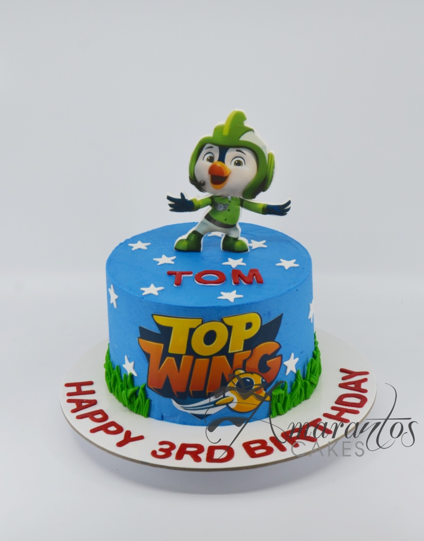 Small Top Wing Cake - Amarantos Cakes - AA45