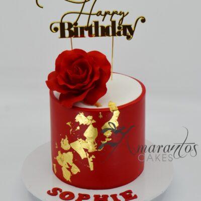 Simple Birthday Cake - AA52 - Amarantos Cakes