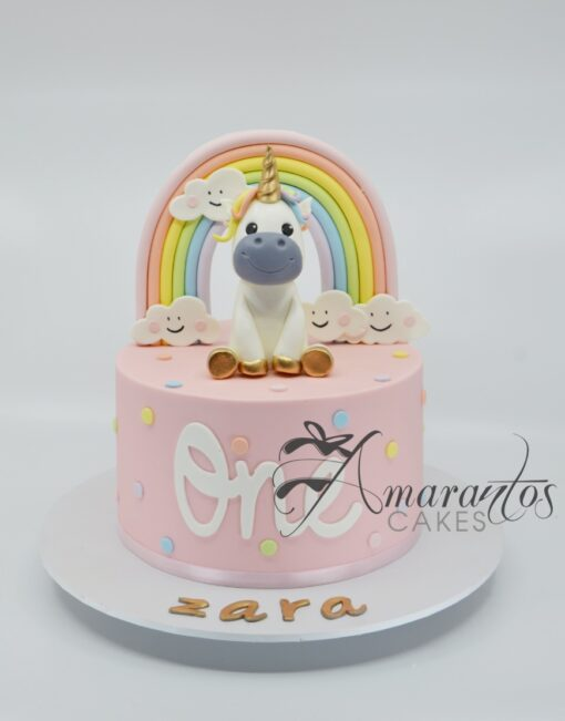 Cute Unicorn Cake - AA54 - Amarantos Cakes