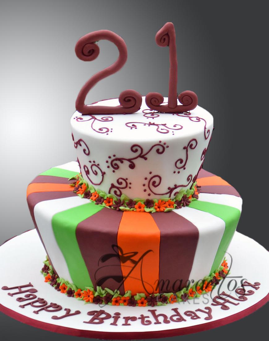 CAKES MELBOURNE 21ST CAKE AC01