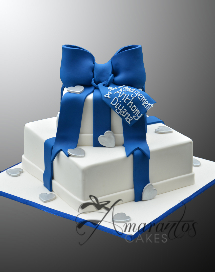 AC04 2 tier present WM Amarantos Cakes