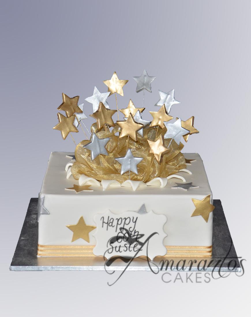 Exploding Stars Cake _ AC08 - Amarantos Cakes