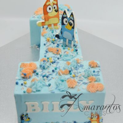 Bingo and Bluey Birthday Cake - AC09 - Amarantos Cakes Melbourne