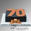 AC100 square with number WM Amarantos Cakes