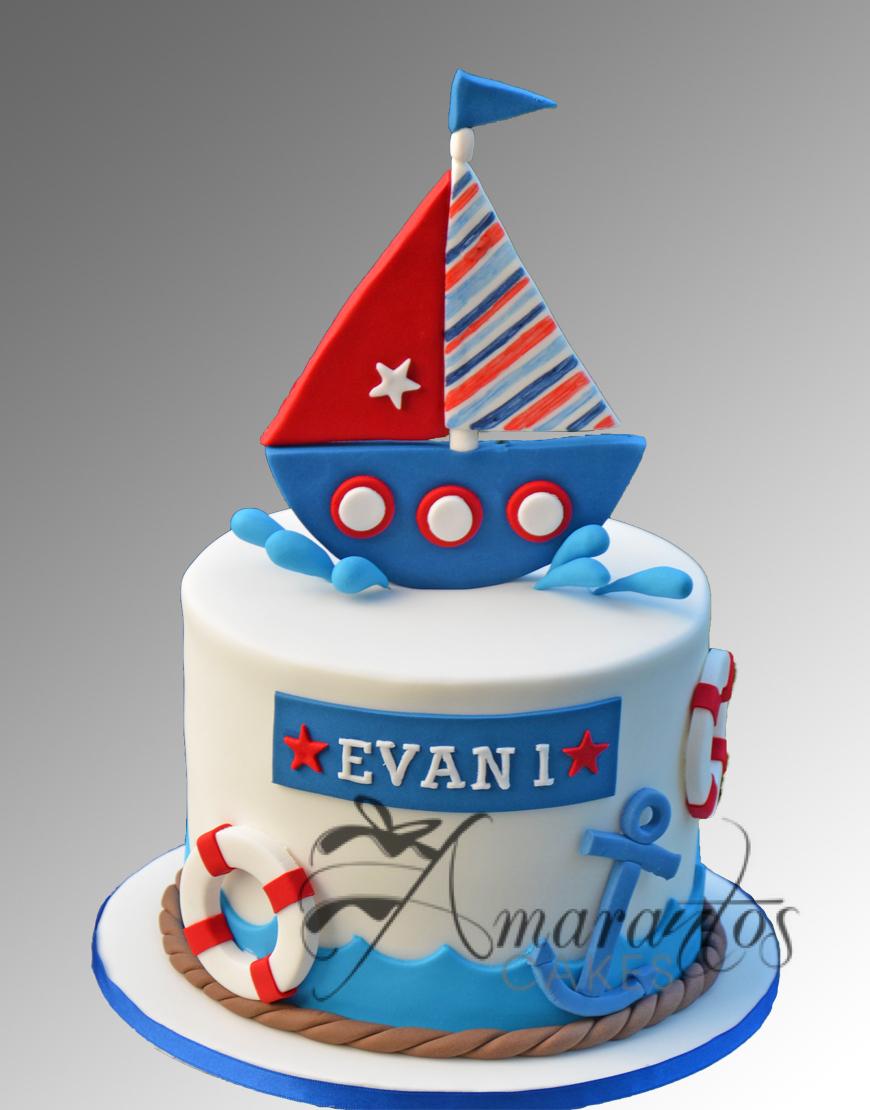 AC110 2 tier barrel nautical WM Amarantos Cakes