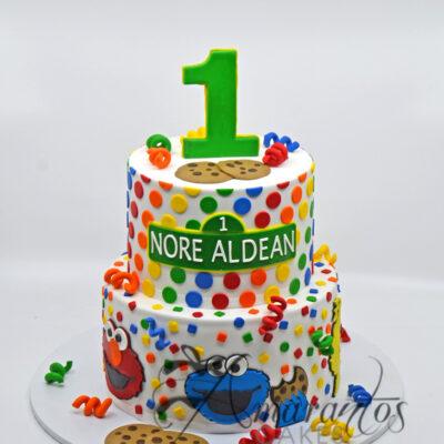 Two tier Sesame Street Cake - AC113