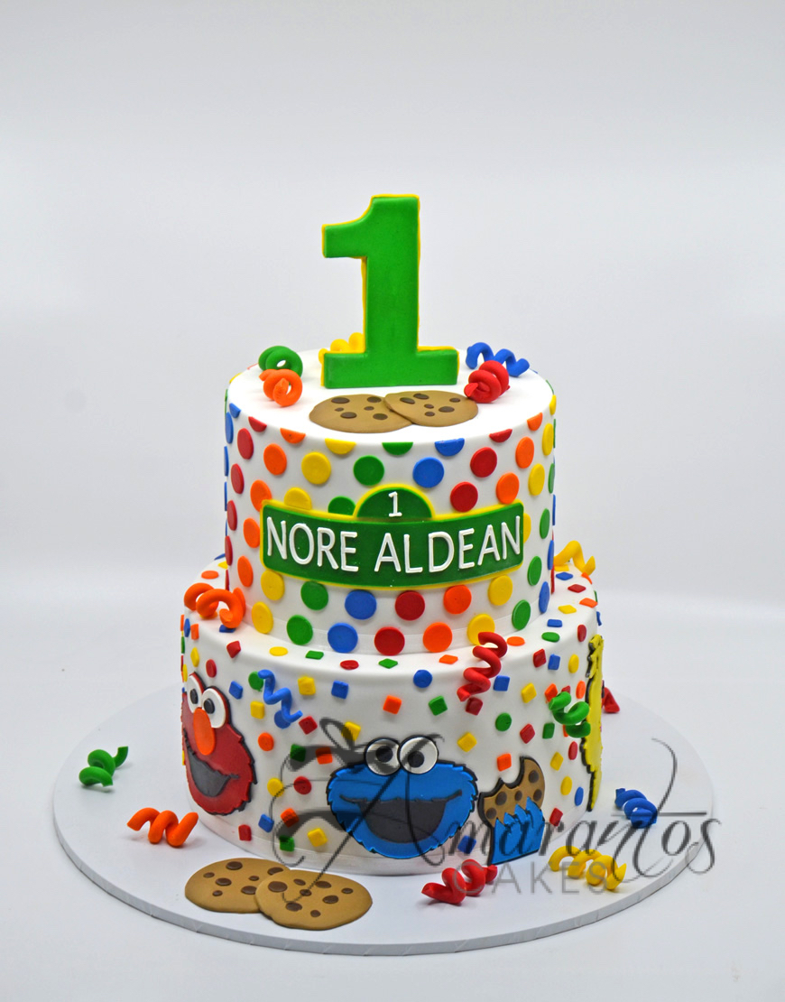 Two tier Sesame Street Cake - AC113
