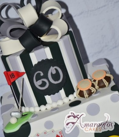 Two tier Birthday cake – AC119