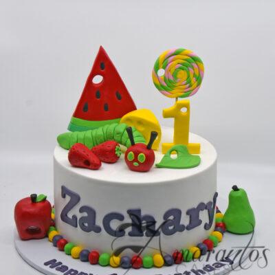 AC130 Single tier hungry caterpillar cake - Amarantos Designer Cakes Melbourne