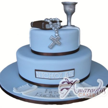 Two tier Communion Cake- AC135