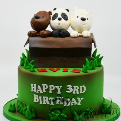 AC137 We Bare Bears Cake
