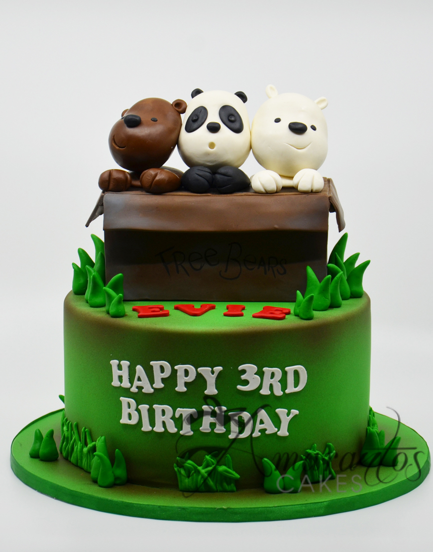 AC137 We Bare Bears Cake