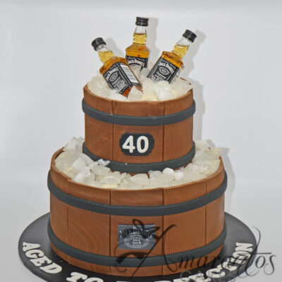 Two tier Jack Daniels Cake - AC138
