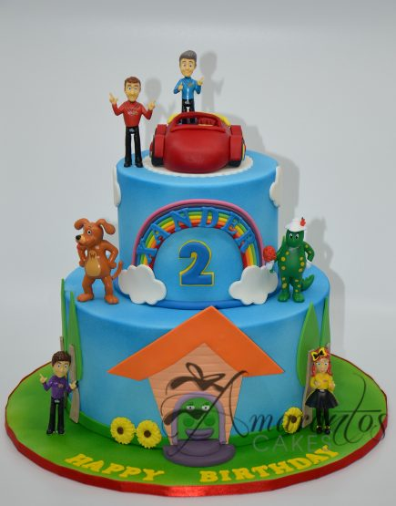 AC142 Two tier wiggles themed cake