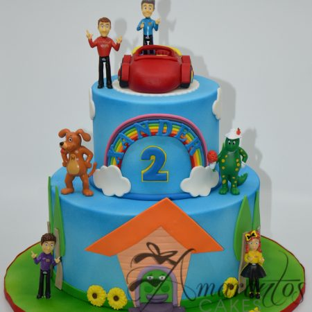 Two tier Wiggles themed cake – AC142