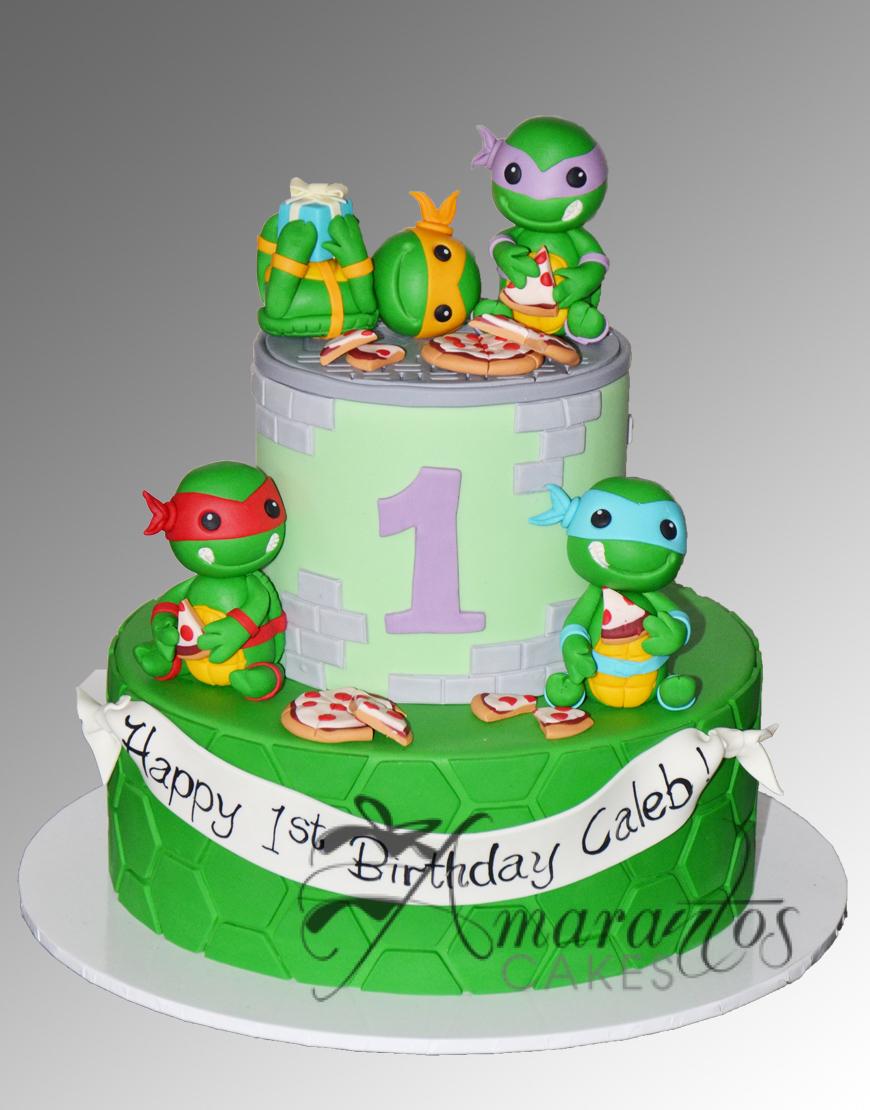 AC143 tmnt teenage mutant ninja turtles WM Amarantos Cakes