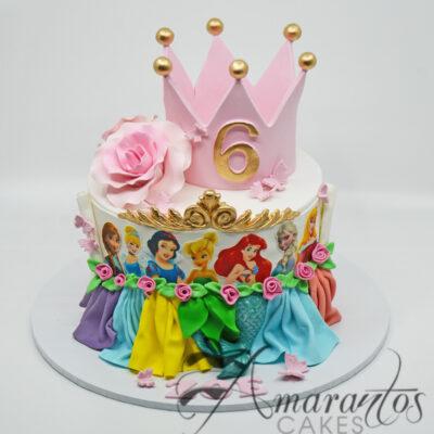 Princesses cake with Crown AC144