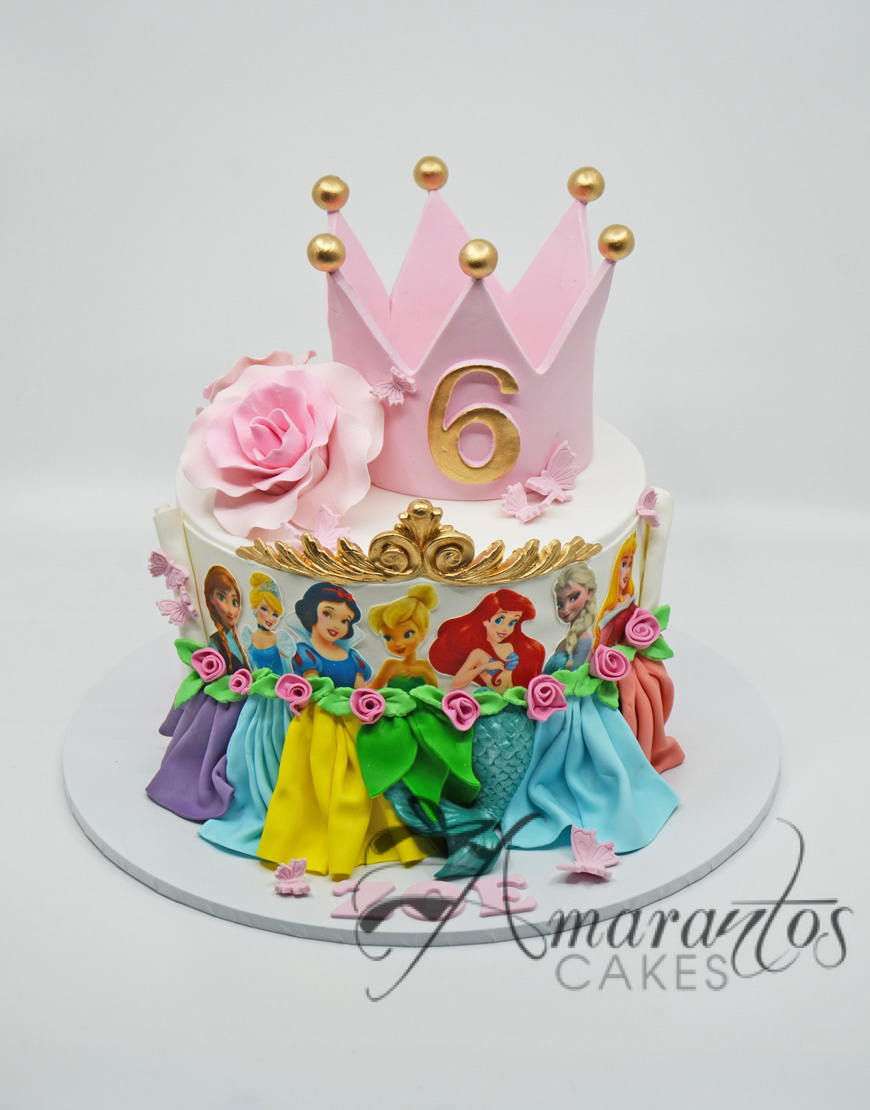 Princesses cake with Crown AC144