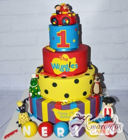 Four tier Wiggles Theme Cake – AC148