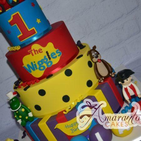 Four tier Wiggles Theme Cake – AC148