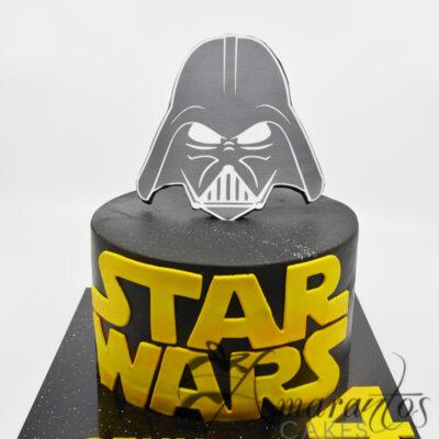 Star Wars Cake with Logo - AC150