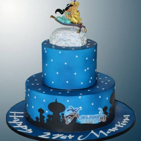 Two tier Arabian Nights Cake – AC152