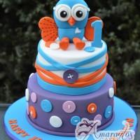 Two tier Hoot Cake - Amarantos Designer Cakes Melbourne