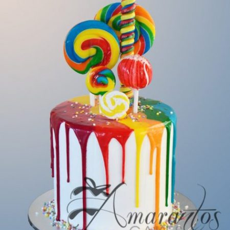 Two tier Rainbow drizzle cake – AC160